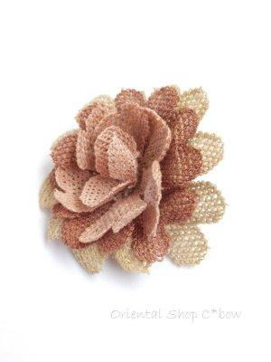 画像3: シルクイーネオヤブローチ|草木染シルク糸|ピーチ