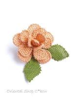 シルクイーネオヤブローチ|薔薇|ペールピンク