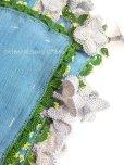 画像2: アイドゥン|アンティークオヤスカーフ|シルク糸|ブルー