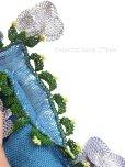 画像3: アイドゥン|アンティークオヤスカーフ|シルク糸|ブルー