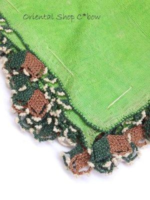 画像1: ベルガマ・コザック|アンティークオヤスカーフ|シルク布|コットン糸