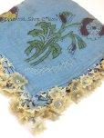 画像2: ■ベルガマ・コザック|木版アンティークオヤスカーフ|イーネオヤ|しかく|アンティークブルー