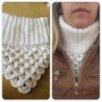 画像7: コートを着ても着ぶくれしない★セーターのような手編みマフラー