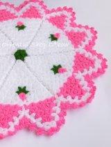 ボディタオル[リフ・エコたわし] 12枚ケーキ|ミニ薔薇|ピンク