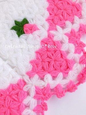 画像2: ボディタオル[リフ・エコたわし] 12枚ケーキ ミニ薔薇 ピンク