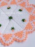 画像1: ボディタオル[リフ・エコたわし] 12枚ケーキ ミニ薔薇 サーモンピンク (1)