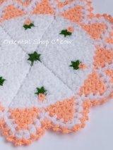 ボディタオル[リフ・エコたわし] 12枚ケーキ|ミニ薔薇|サーモンピンク