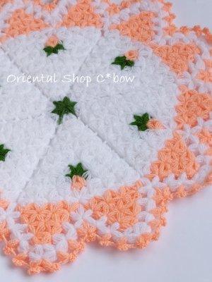 画像1: ボディタオル[リフ・エコたわし] 12枚ケーキ ミニ薔薇 サーモンピンク
