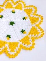 ボディタオル[リフ・エコたわし] 12枚ケーキ|ミニ薔薇|イエロー