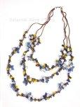 画像3: 天然石とオヤの3連ネックレス|ブルーすみれ