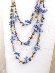 画像5: 天然石とオヤの3連ネックレス|ブルーすみれ