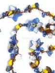 画像7: 天然石とオヤの3連ネックレス|ブルーすみれ