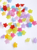 カラフル花パーツ(艶消し)|アクリル|ミックスカラー20g
