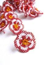 手作りアクセに☆シルク糸:イーネオヤ単体|オクラ|レッド2