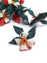 手作りアクセに☆シルク糸:イーネオヤ単体|落花生の花|クリスマスカラー