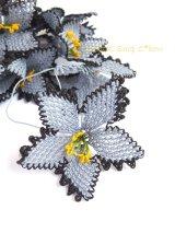 手作りアクセに☆シルク糸:イーネオヤ単体|大きな花|グレー2