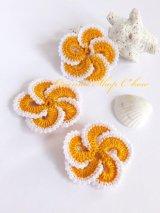手作りアクセに☆トゥーオヤパーツ・3個セット|マンダリンオレンジ