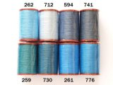 MUZ撚り済み:人工シルク糸|6本撚り糸|ブルー系・1