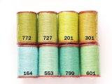 MUZ撚り済み:人工シルク糸|6本撚り糸|グリーン系・1
