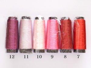 画像1: 人工シルク糸|コーン光沢糸|レッド・ピンク・パープル系