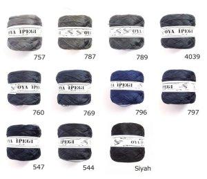 画像2: Diktas|人工シルク糸:濃グレー・濃紺系