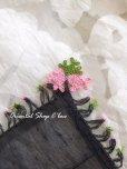画像3: ナウルハン|アンティークイーネオヤスカーフ|シルク糸|ブラック|クヌギの葉 (3)