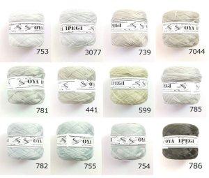 画像1: Diktas 人工シルク糸 グレー系・1