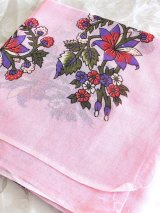 特価★スカーフ*オヤなし:ヴィンテージ GUNBATILI ピンク