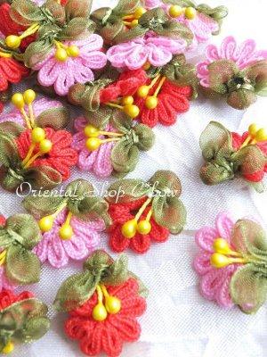 画像1: 日本発送★手作りアクセに☆クルデレオヤパーツ|扇形花