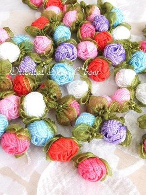 画像1: 日本発送★手作りアクセに☆クルデレオヤパーツ|コロコロ薔薇