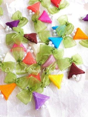 画像1: 日本発送★手作りアクセに☆クルデレオヤパーツ|さんかく花