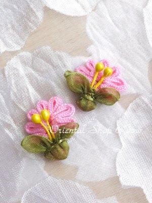 画像2: 日本発送★手作りアクセに☆クルデレオヤパーツ|扇形花