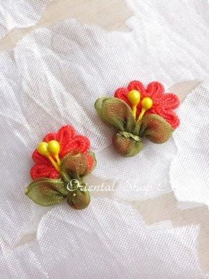 画像3: 日本発送★手作りアクセに☆クルデレオヤパーツ|扇形花