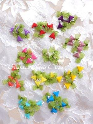 画像2: 日本発送★手作りアクセに☆クルデレオヤパーツ|さんかく花
