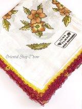 カッパドキア:可愛いスカーフの柄・アンティークヤスカーフ:ココア