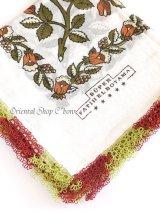 カッパドキア:可愛いスカーフの柄・アンティークヤスカーフ:ブラウン