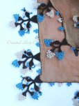 画像9: ブルサ:イズニック|アンティークオヤスカーフ|大きなイーネオヤ(人工シルク糸)|ブラウン・柄がすごく可愛い