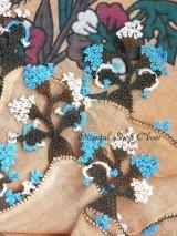 ブルサ:イズニック|アンティークオヤスカーフ|大きなイーネオヤ(人工シルク糸)|ブラウン・柄がすごく可愛い