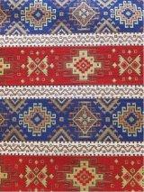 トルコ|キリム柄布|ウルギュプ|140cm×48cm|レッド×ブルー