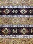 画像1: トルコ|キリム柄布|ウルギュプ|140cm×48cm|マスタード×ブラウン (1)
