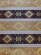 トルコ|キリム柄布|ウルギュプ|140cm×48cm|マスタード×ブラウン