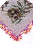 画像2: ブルサ 木版アンティークオヤスカーフ・シルク糸イーネオヤ・美品 BR14