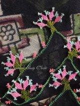 珍品・ブルサ|木版アンティークオヤスカーフ・シルク糸イーネオヤ・とうがらしの謎|BR11