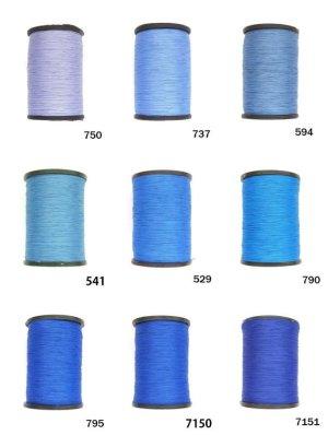 画像1: MUZ撚り済み:人工シルク糸|3本撚り糸|13
