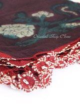 キュタフヤ・タウシャンル:木版アンティークオヤスカーフ|シルク糸|K044