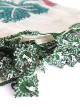 キュタフヤ・タウシャンル:アンティークオヤスカーフ|シルク糸|K049