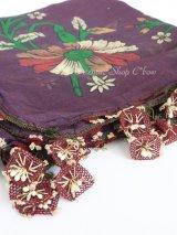 キュタフヤ・タウシャンル:アンティークオヤスカーフ|シルク糸/印鑑オヤ|K045