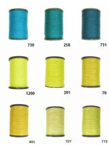 MUZ撚り済み:人工シルク糸|3本撚り糸|16