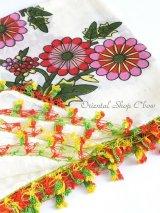 バルッケシル:アンティークオヤスカーフ(ハッキリお花)|トゥーオヤ|グラデ糸