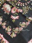 画像6: バルッケシル:アンティークオヤスカーフ|トゥーオヤ|ピンク花×ブラック